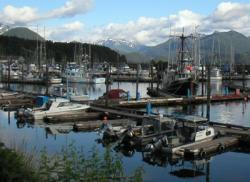 Commercial fishing vessels in Alaska photo